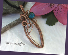 Load image into Gallery viewer, SOLD  Copper Teardrop Wire Wrapped Necklace