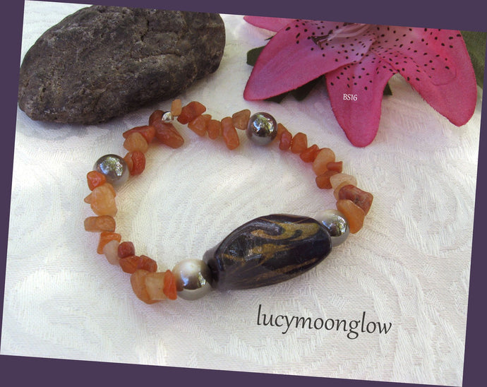 Red Aventurine Gemstone Bracelet