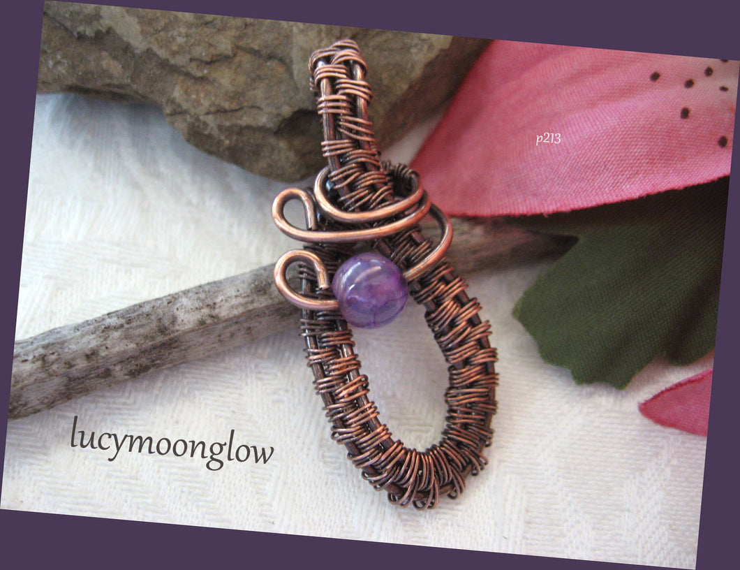 Copper Wire Wrapped Gemstone Necklace