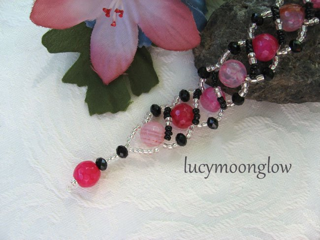 Pink Dragon Vein Gemstone Bracelet