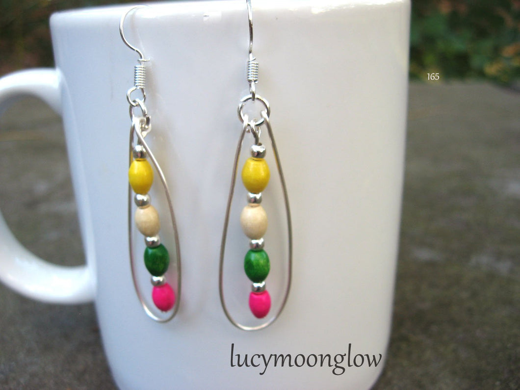Colorful Teardrop Earrings