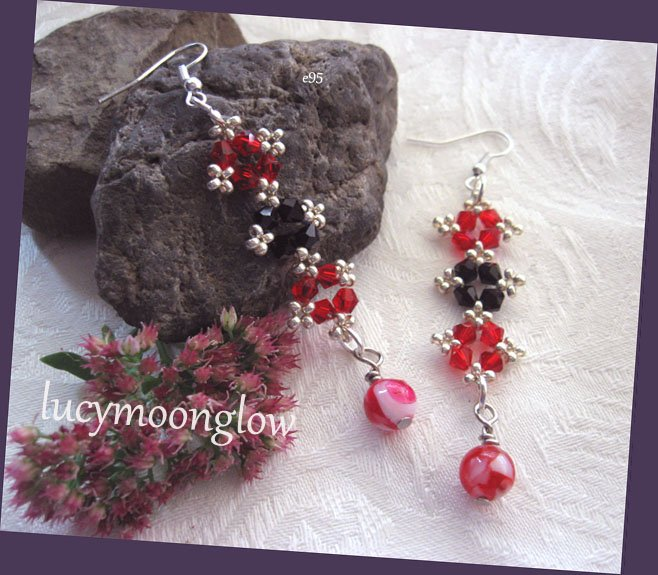 Hand Woven Crystal Earrings