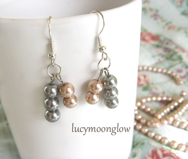 Asymmetrical Pearl Earrings