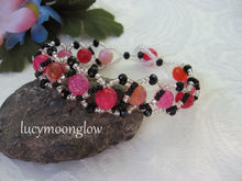 Load image into Gallery viewer, Pink Dragon Vein Gemstone Bracelet