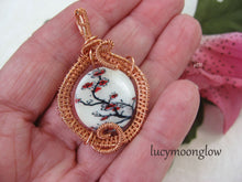 Load image into Gallery viewer, Cherry Blossom Mother of Pearl Wire Wrapped Necklace