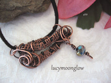 Load image into Gallery viewer, Copper Wire Wrapped Pendant Necklace