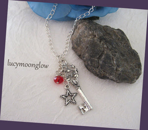 Key Charm Dangling Necklace