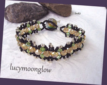 Load image into Gallery viewer, Topaz and Peridot Crystal Fringe Bracelet