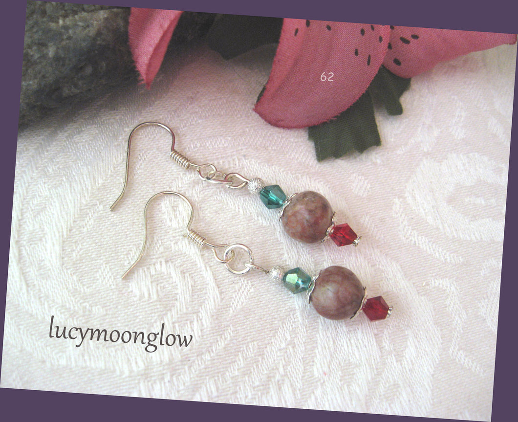 Jasper Gemstone Earrings