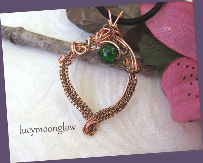 SOLD Copper Wire Wrapped Gemstone Necklace