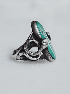 Vintage Zuni Effie Turquoise and Sterling Silver Ring