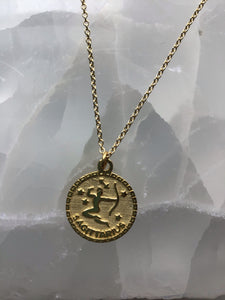 gold sagittarius necklace