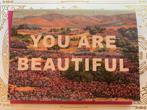 You Are Beautiful Wooden Card