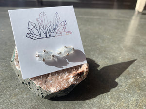 Moonstone Claw Stud Earrings