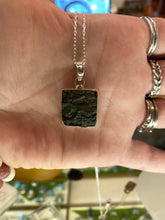 Load image into Gallery viewer, Moldavite Square Necklace