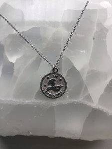 Silver capricorn necklace