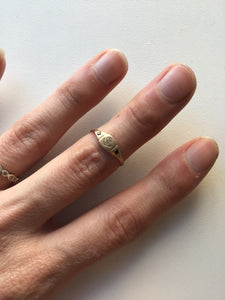 Littlest Anchor Ring in 14K Gold by Daisy San Luis