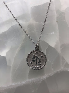 silver libra necklace