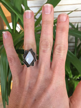 Load image into Gallery viewer, Vintage Mother of Pearl + Sterling Silver Ring