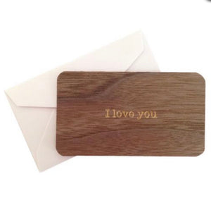 Mini Wooden Greeting Card