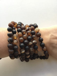 Brown Agate Wrap 8MM