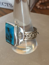 Load image into Gallery viewer, Sterling Silver Kingman Turquoise Richard Ring