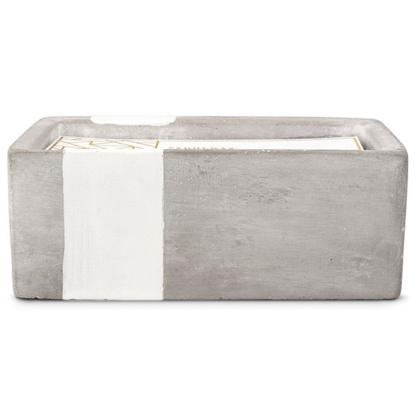 Paddywax 8 oz Rectangle Urban Concrete Candle