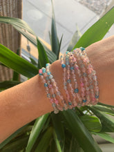 Load image into Gallery viewer, Pink + Blue Agate Wrap