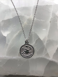 sterling silver scorpio necklace