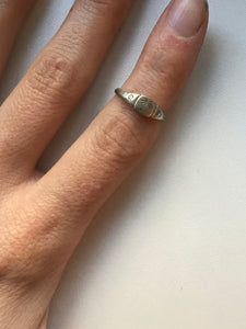 Littlest Palm Ring in 14K Gold by Daisy San Luis