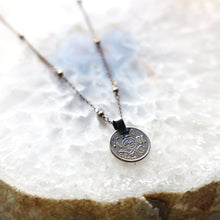 Load image into Gallery viewer, Vintage Coin Necklace with Brass Chain