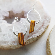 Load image into Gallery viewer, Tiger's Eye Earrings
