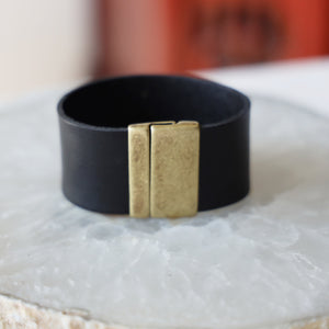 Genuine Black Leather Band  | Unisex