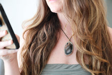 Load image into Gallery viewer, Black Agate Slice Necklace