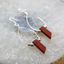 Load image into Gallery viewer, Red Jasper Earrings