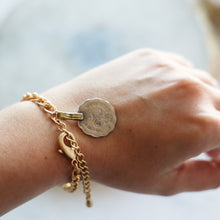 Load image into Gallery viewer, Vintage Coin Bracelet with Gold Chain