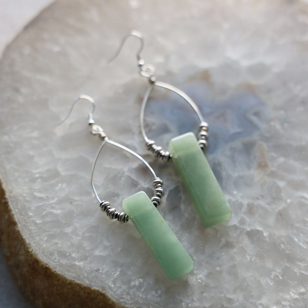 Aventurine Stone Earrings
