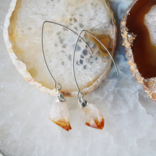 Load image into Gallery viewer, Citrine Crystal Drop Earrings