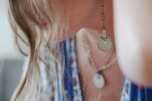 Load image into Gallery viewer, Vintage Coin Brass Earrings