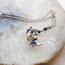 Load image into Gallery viewer, Moon and Lady Charm Drop Necklace