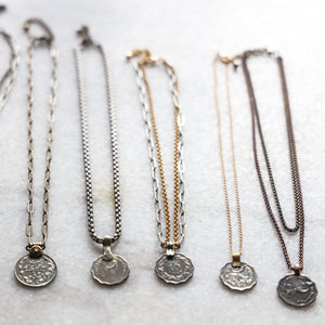 Vintage Coin Necklace | Mixed Metal Copper and Brass