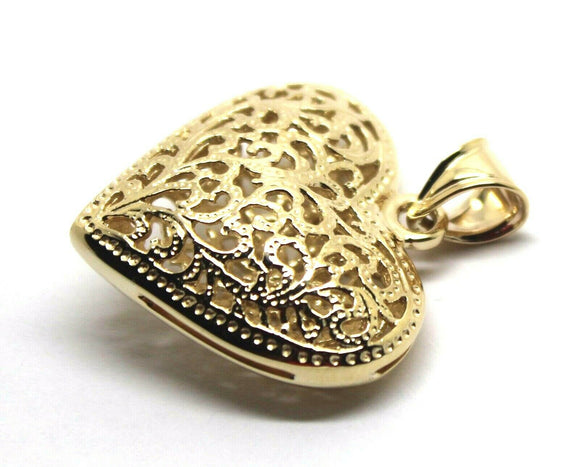 Kaedesigns New Genuine 9ct 9k Heavy Large, Rose or White Yellow Gold Filigree Heart Pendant