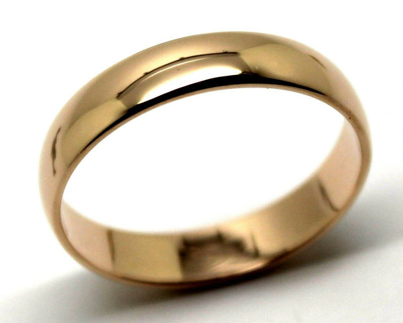 Kaedesigns Genuine Heavy Solid 9ct 9kt Rose Gold 5mm Wedding Band Ring Size Y