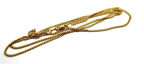 9ct Yellow Gold Kerb Curb Chain Necklace 50Cm 4.18Gms *Free Express Post In Oz