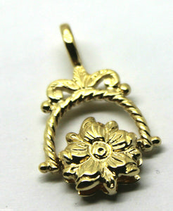 9CT SOLID GENUINE YELLOW GOLD  FLOWER SPINNER PENDANT *FREE EXPRESS POST IN OZ