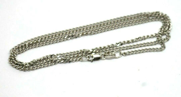 Genuine 9ct 9k White Gold Kerb Curb Chain Necklace 6grams 50cm *Free Express Post In Oz*