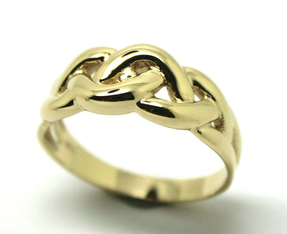 New Genuine Solid 9ct White Or Rose Or Yellow Gold Celtic Knot Ring Choose Size