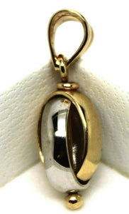 Kaedesigns New 9ct Yellow & White Gold or Rose & White Gold Oval Belcher Ball Pendant