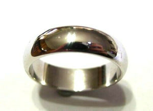 Kaedesigns, Genuine Heavy Solid 9ct 9kt White Gold 6mm Wedding Band Ring