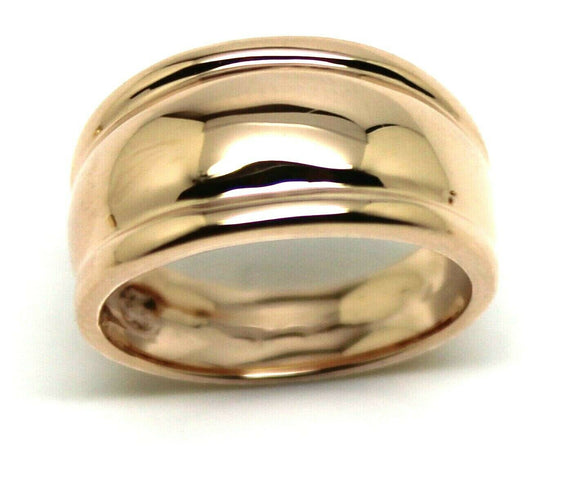 9ct 9kt 375 Full Solid Yellow, Rose or White Gold Thick Dome Ring 10mm Wide Size N / 6.5